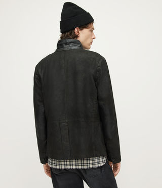 Mens Survey Leather Blazer (ANTHRACITE GREY) - product_image_alt_text_8