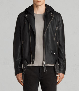 stens leather biker jacket