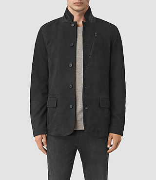 Men's Yura Suede Blazer (Black)