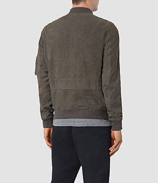 Hombres Ikeda Suede Bomber Jacket (DARK SLATE GREY) - product_image_alt_text_5