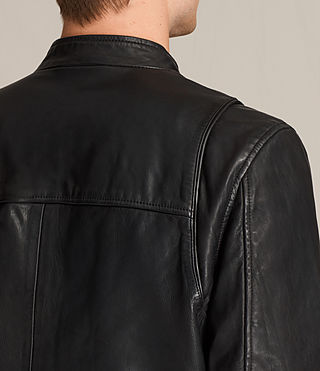 Men's Parker Leather Jacket (Black) - product_image_alt_text_2