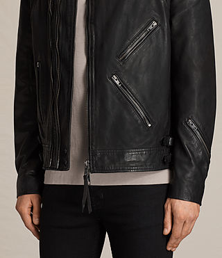 Hombres Parker Leather Jacket (Black) - product_image_alt_text_6