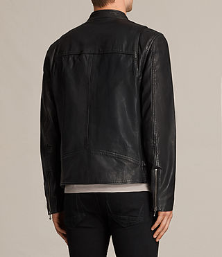 Men's Parker Leather Jacket (Black) - product_image_alt_text_8