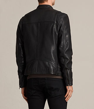 Men's Parker Leather Jacket (Black) - product_image_alt_text_9