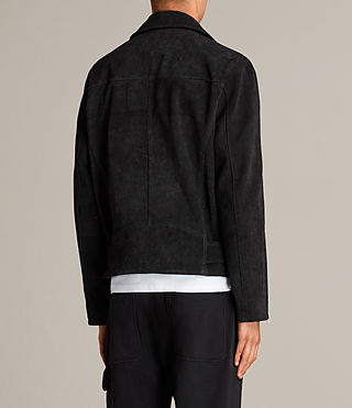 Men's Hosoi Suede Biker Jacket (Washed Black) - Image 8