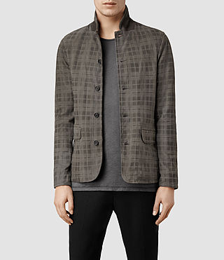 Mens Trail Leather Blazer (Anthracite)