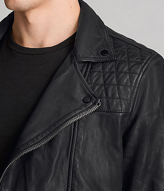 Hombre Conroy Leather Biker Jacket (Ink) - product_image_alt_text_2