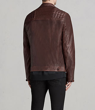 Men's Conroy Leather Biker Jacket (OXBLOOD RED) - Image 6