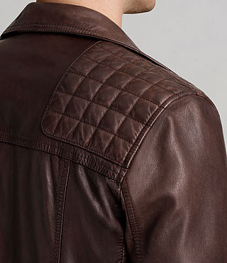 Mens Conroy Leather Biker Jacket (OXBLOOD RED) - Image 8
