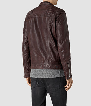 Hombres Conroy Leather Biker Jacket (Oxblood) - product_image_alt_text_4
