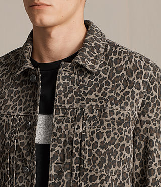 Men's Jetter Suede Jacket (LEOPARD GREY) - product_image_alt_text_2