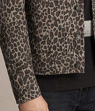 Men's Jetter Suede Jacket (LEOPARD GREY) - product_image_alt_text_4