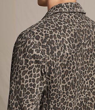 Men's Jetter Suede Jacket (LEOPARD GREY) - product_image_alt_text_5