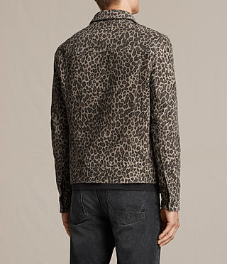 Men's Jetter Suede Jacket (LEOPARD GREY) - product_image_alt_text_6