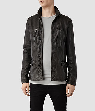 Men's Melville Leather Jacket (Anthracite)