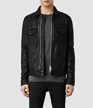 Men's Morson Leather Jacket (Black)