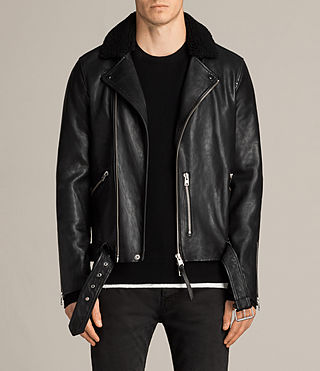 hawk leather biker jacket