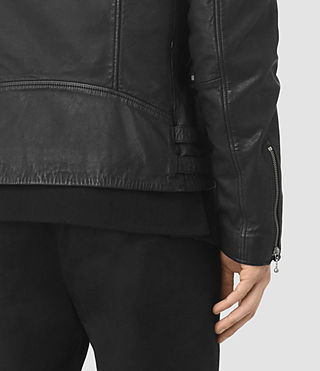 Mens Skept Leather Biker Jacket (Black) - product_image_alt_text_5