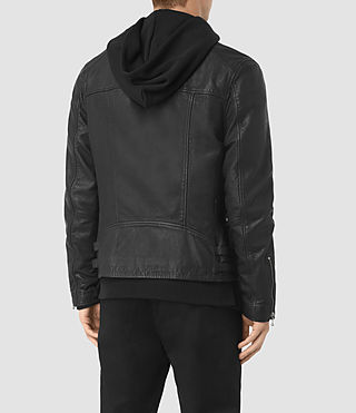 Mens Skept Leather Biker Jacket (Black) - product_image_alt_text_6