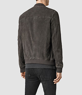 Men's Trinity Suede Bomber Jacket (ANTHRACITE GREY) - product_image_alt_text_3