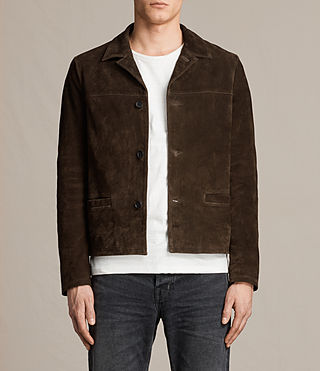 Mens Demi Suede Blazer (Bitter Brown) - product_image_alt_text_1