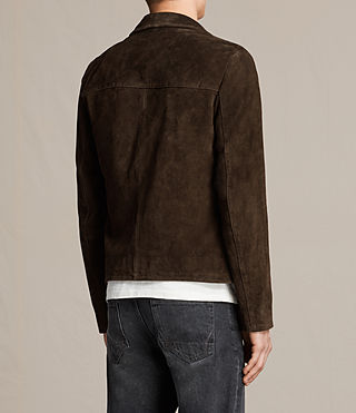 Hommes Blazer Demi en cuir velours (Bitter Brown) - product_image_alt_text_6