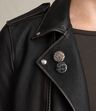 Mens Wykham Leather Biker Jacket (Black) - product_image_alt_text_2