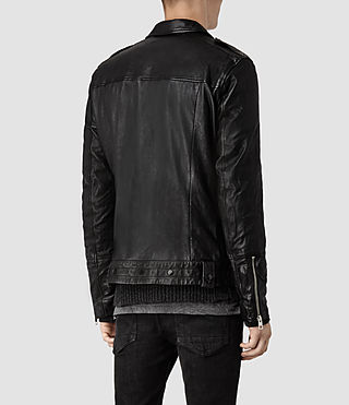 Men's Griffin Leather Biker Jacket (Black) - product_image_alt_text_3