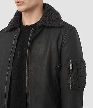 Uomo Olin Leather Aviator Jacket (ANTHRACITE GREY) - product_image_alt_text_3