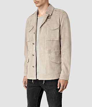 Uomo Paxson Suede Jacket (Sand) - product_image_alt_text_2