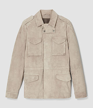 Uomo Paxson Suede Jacket (Sand) - product_image_alt_text_3