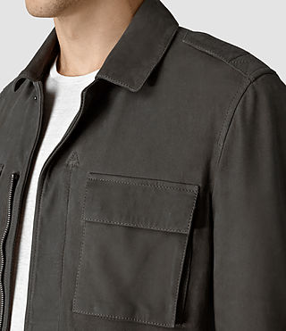 Hombre Rampart Suede Jacket (Steel Grey) - product_image_alt_text_2