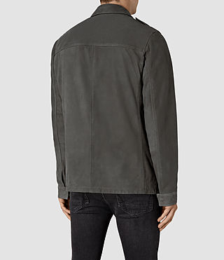 Hombre Rampart Suede Jacket (Steel Grey) - product_image_alt_text_4