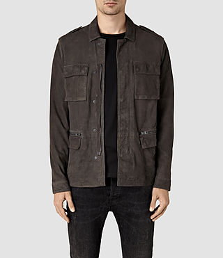 Hombre Rampart Suede Jacket (ANTHRACITE GREY)