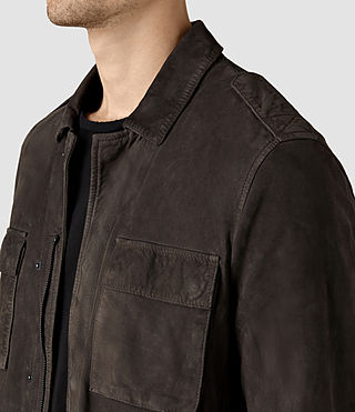Mens Rampart Suede Jacket (ANTHRACITE GREY) - product_image_alt_text_2