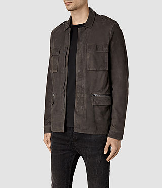 Mens Rampart Suede Jacket (ANTHRACITE GREY) - product_image_alt_text_3
