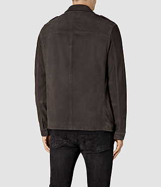 Mens Rampart Suede Jacket (ANTHRACITE GREY) - product_image_alt_text_4