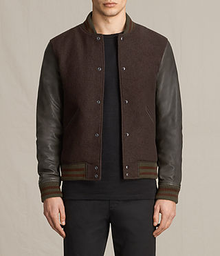 Hommes Bomber Buck (OXBLOOD RED/BROWN) - product_image_alt_text_3