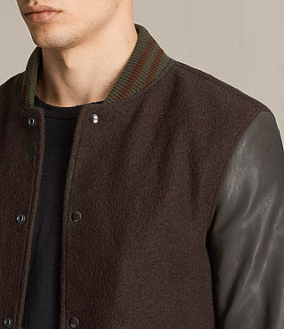 Hommes Bomber Buck (OXBLOOD RED/BROWN) - product_image_alt_text_6