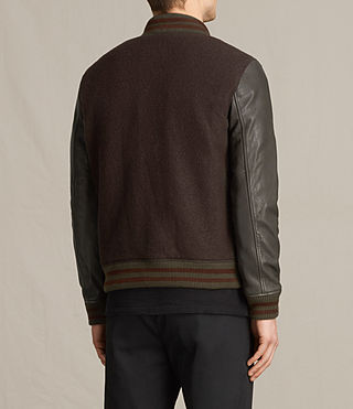 Hommes Bomber Buck (OXBLOOD RED/BROWN) - product_image_alt_text_7