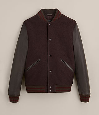 Hommes Bomber Buck (OXBLOOD RED/BROWN) - product_image_alt_text_9