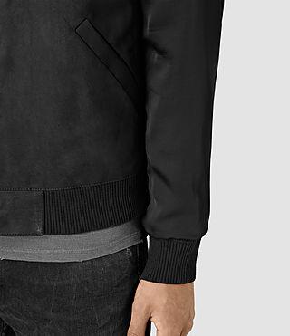 Hommes Ilia Leather Bomber Jacket (Black) - product_image_alt_text_2
