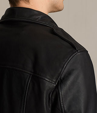 Herren Clint Bikerjacke aus Leder (BLACK/WASHED) - product_image_alt_text_4