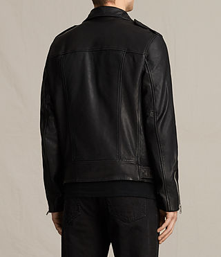 Uomo Giacca biker in pelle Clint (BLACK/WASHED) - product_image_alt_text_9