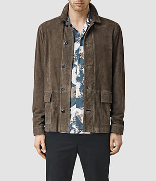 Mens Delta Suede Jacket (Slate Grey)