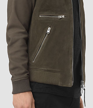 Herren Logan Suede Bomber Jacket (Slate Grey) - product_image_alt_text_3