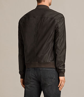 Mens Boxley Leather Bomber Jacket (GRAPHITE GREY) - product_image_alt_text_4