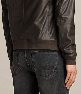 Mens Boxley Leather Bomber Jacket (GRAPHITE GREY) - product_image_alt_text_8