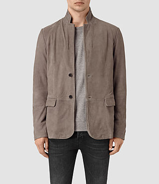 Mens Kaioku Suede Blazer (Steel Grey)