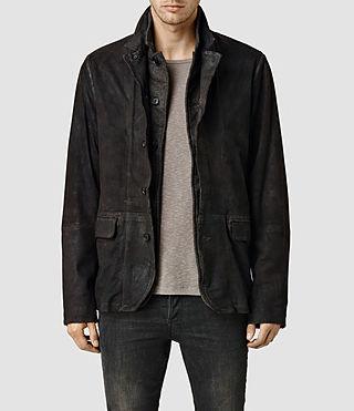 Mens Sanuki Leather Blazer (Bitter)